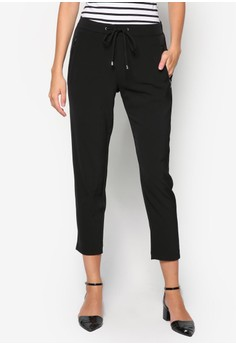 Petite Black Jogger Trouser