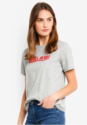 ESPRIT grey Short Sleeve T-Shirt 23C24AAAD9EC92GS_1