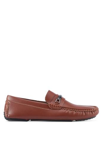 Bata brown Vian-Lb Loafers 7CB35SH1B38298GS_1