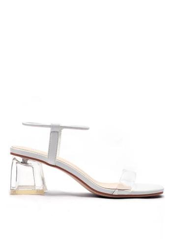 Twenty Eight Shoes 白色 水晶玻璃踭涼鞋1801-2 557D1SH92644DCGS_1