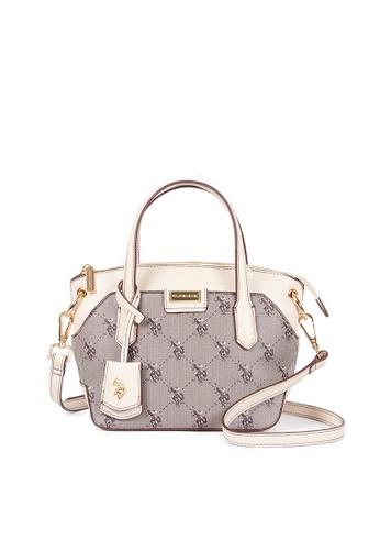 U.S. Polo Assn. white U.S. Polo Assn. Hampton Small Double Handle Handbag - BIUHD4880WV 2BD93AC7DAB289GS_1