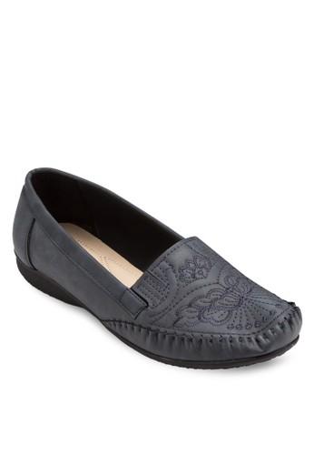 Moccasin 刺繡鞋esprit分店地址面平底鞋, 女鞋, 鞋