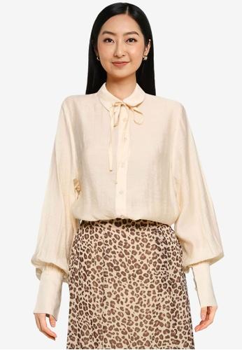 Heather brown Woven Shirt 8BA8DAA01E10E1GS_1