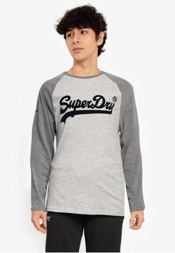 Superdry 灰色 Vintage Logo AC Raglan 長袖上衣 38E0FAA285517EGS_1