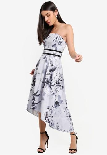 Lipsy navy Vip Mono Tori Bandeau High Low Prom Dress 44CB1AA4E42C0EGS_1