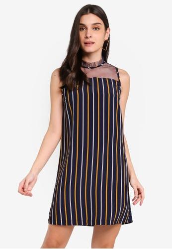ZALORA 多色 and 海軍藍色 Lace Panel Dress 39507AA8C8B192GS_1
