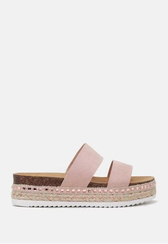 London Rag 粉紅色 双带厚底松高托鞋 A1C99SHEBDA5D6GS_1