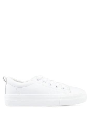 Twenty Eight Shoes 白色 Basic厚底綁帶運動鞋 1E863SH1AA43C1GS_1