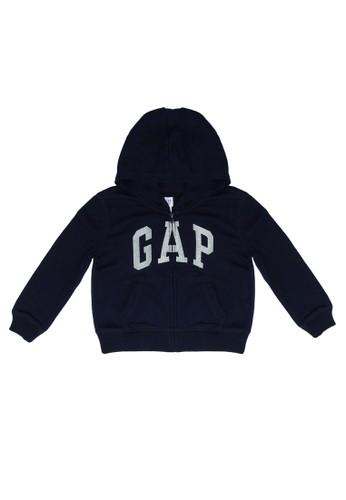 Gap navy Basic Arch Full Zip Hoodie BFF7DKAD3CCC48GS_1