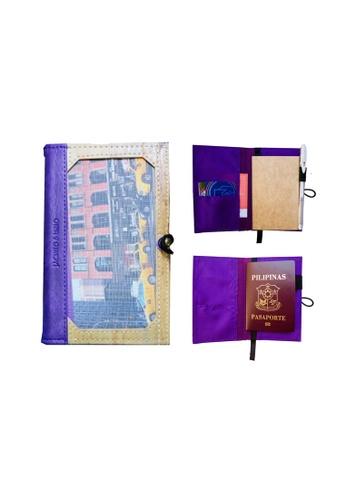 Jacinto and Lirio purple Pinto Mini Personalizable Passport Holder or Refillable Vegan Leather Journal 39344HL3B31937GS_1