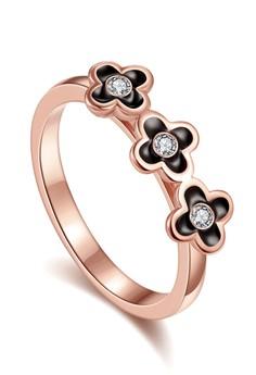 harga Tiaria Flower Crown Ring LKN18KRGPR740-B-7 Plated Rose Gold Cincin Zalora.co.id