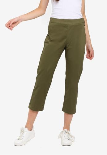 Cotton On green Gemma Capri Pants E22A9AAFD081EEGS_1