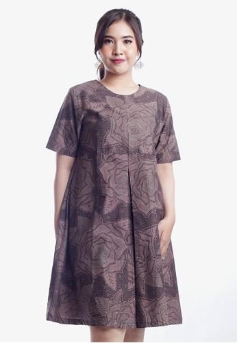EAJA grey Nisha Dress Batik Wanita Modern 81A3EAA6E766A3GS_1