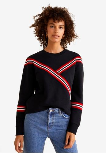 Mango black Mixed Cotton Sweatshirt DDB5CAAF14236BGS_1