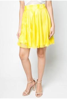 Jenna Mesh Fit & Flare Skirt