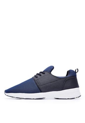 MIT。超輕量。透氣網布。運動時尚休閒鞋-09340-藍色zalora退貨, 鞋, 休閒鞋
