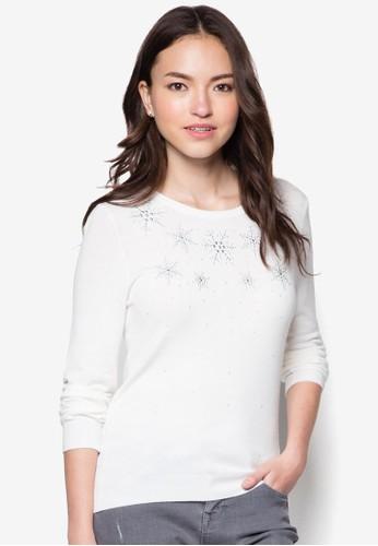 Petite 閃zalora 手錶 評價飾雪花長袖衫, 服飾, 毛衣& 針織外套