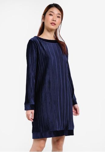 Something Borrowed navy Dip Hem Sweater Dress 80447AA8D907D0GS_1