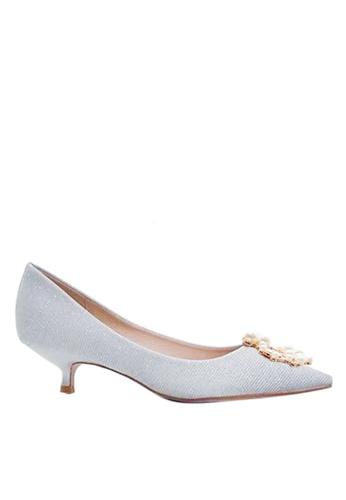 Twenty Eight Shoes 亮片珍珠扣婚鞋 295-8 505C1SH2C85A2EGS_1