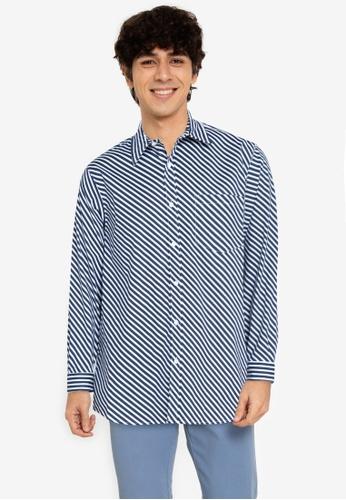 ZALORA BASICS multi Parallel Striped Shirt 5442EAA1A003FAGS_1