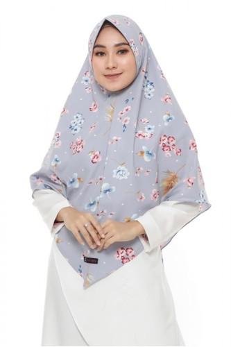 First Hijab grey Afifa Khimar Instant In Grey 3D826AAE5562FCGS_1
