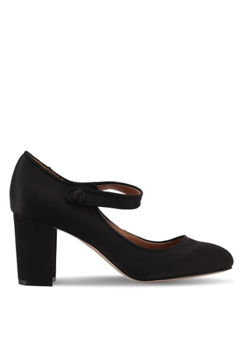 ZALORA black Satin Mary-Janes 838D2SHFF789C0GS_1