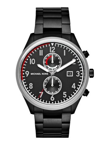 MICHAEL KORS black Saunder Chronograph Watch MI248AC0K8VSPH_1