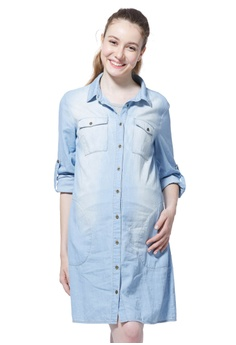 a45930c810cab Mamaway blue Maternity   Nursing Denim Shirt Dress 9038CAA5E11DAAGS 1