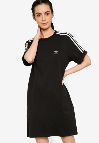 ADIDAS 黑色 adicolor classics roll-up sleeve tee dress 9A9D4AA2B55D2CGS_1