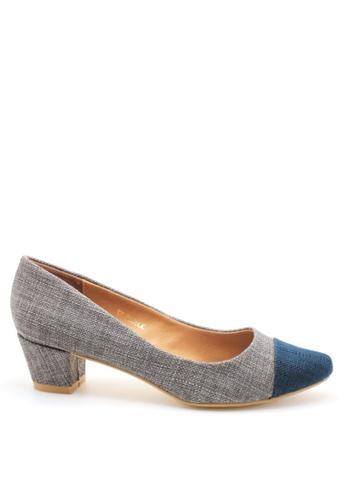 PRODUIT PARFAIT 灰色 雙色尖頭高踭鞋 A7C14SH5274FB4GS_1