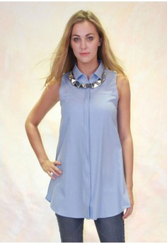 Marnia Longline Side-Slit Shirt