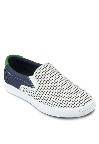 Mixed Textilesprit服飾e Slip On Sneakers, 鞋, 鞋