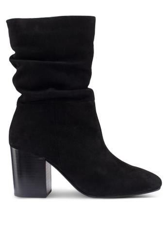 River Island 黑色 時尚麂皮靴 A4CFBSHEEC2F6DGS_1