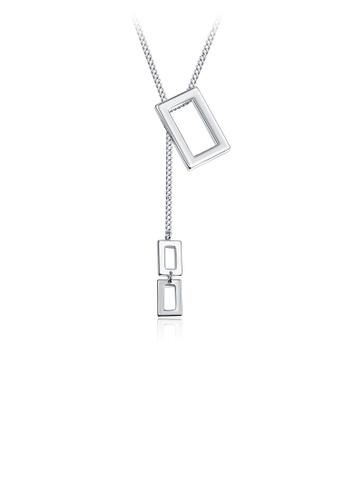 Glamorousky silver Simple Fashion Geometric Rectangle Necklace 6CA70ACB1F6987GS_1