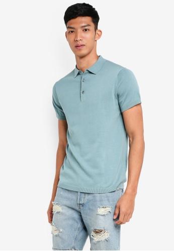 Jack & Jones 藍色 短袖針織POLO衫 1B863AA742D8C8GS_1