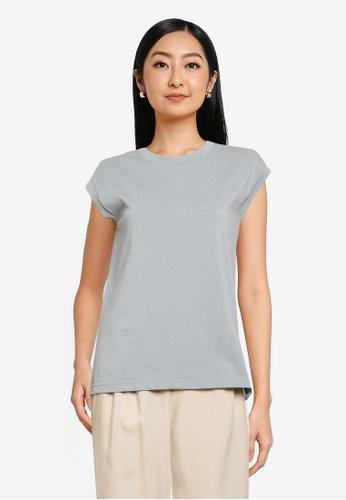 GLOBAL WORK blue Knit T-Shirt 80970AA5544B97GS_1