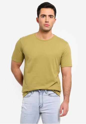 Cotton On 黃色 Basic 圓領T恤 E382AAAF779E2FGS_1