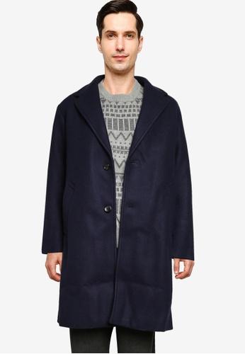 niko and ... blue Woven Coat 8E6F4AAECE3A35GS_1