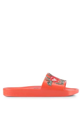 Melissa 紅色 Melissa Beach Slide Flower Ad Sandals ME121SH0RT25MY_1