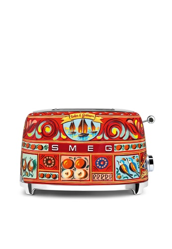 SMEG TSF01DGUK 2-Slice Toaster, Sicily Is My Love Collection 50350HL5E23266GS_1