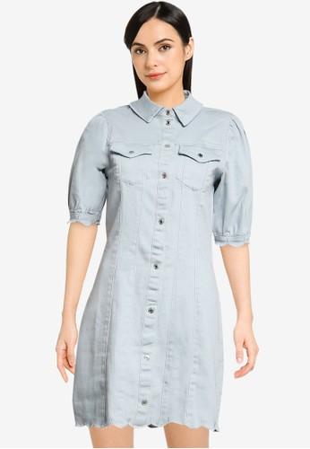 Vero Moda blue Aviis Puff Short Dress D6111AA2AEB909GS_1