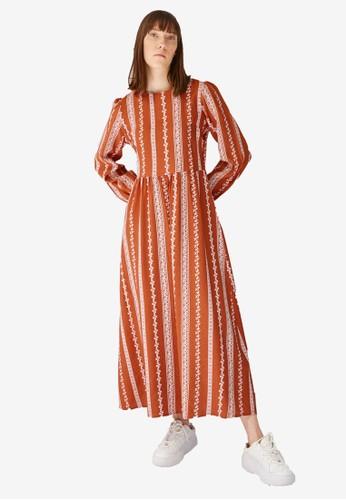 Trendyol red Rust Boho Print Maxi Dress CB167AABD8C585GS_1