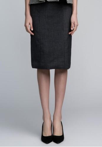 復古細格紋鉛筆裙, esprit手錶專櫃服飾, 鉛筆裙
