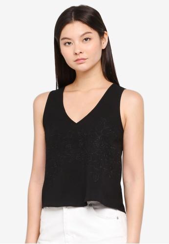 efbef8303b3661 Buy Something Borrowed V Neck Sleeveless Top Online on ZALORA Singapore