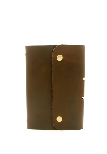 LUXORA brown Genuine Leather Notebook A6 LU926AC0F7W1SG_1