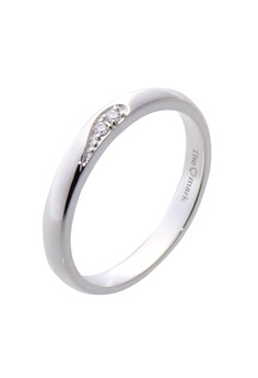 Love Concept Silver Ring with Artificial Diamonds for Men lr0018m