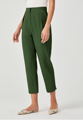 Love, Bonito green Jordyn Cropped Peg Leg Pants 5C2C8AA97B6F68GS_1