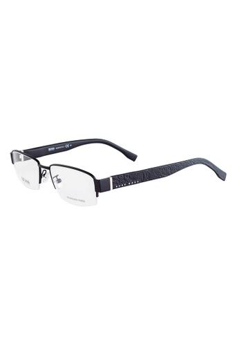 HUGO BOSS Rectangle Black Eyewear 0857F