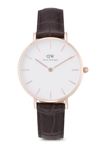Daniel Wellington brown Classic Petite York Watch DA965AC0UKSQID_1