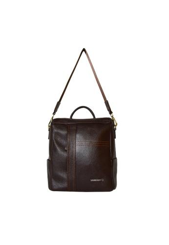 EXTREME brown Extreme Genuine Leather 3Way Backpack Multi Slots iPad 2 Dark Brown 3D163ACBE48297GS_1